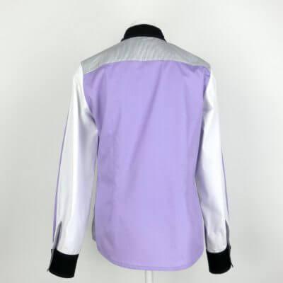 Violette Damenbluse Langarm