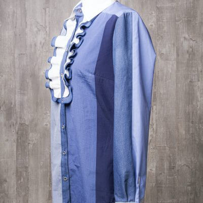 Damenbluse blau