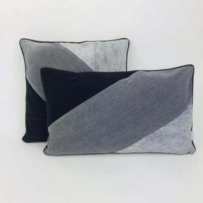 Kissenset grau schwarz