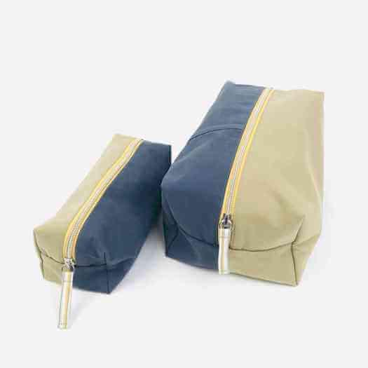 Kosmetiktasche aus Jeans und Chino