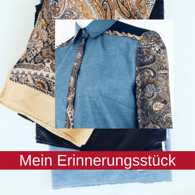 Seidenbluse Seidentuch Upcycling