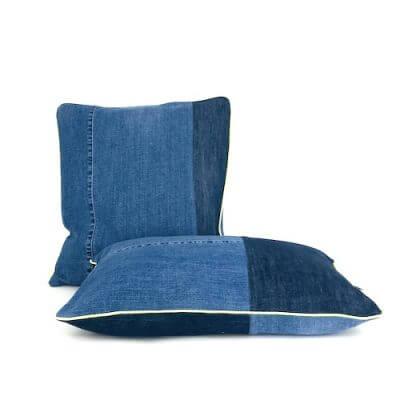 Kissen jeans senkrecht