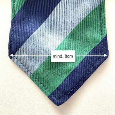 Krawatte Breite