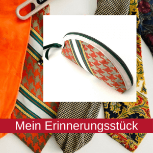 Geschenkidee Mäppchen aus Krawatten - Erinnerungsstück
