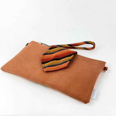 Handtasche Upcycling orange