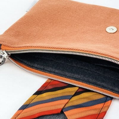 Clutch Upcycling Innentasche