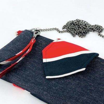 Clutch schwarz rot