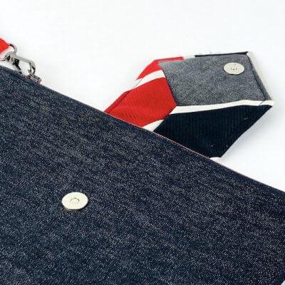 Clutch Upcycling Krawatte