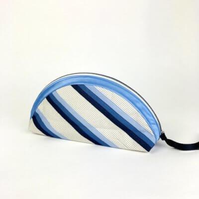 Mäppchen Handmade blau Streifen