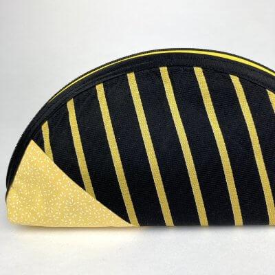 Etui Handmade gelb schwarz